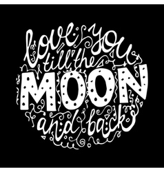 font for moon black background vector image