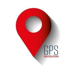 GPS navigation technology vector image