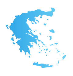 greece silhouette flat blue color vector image