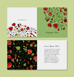 Greeting card design floral background vector