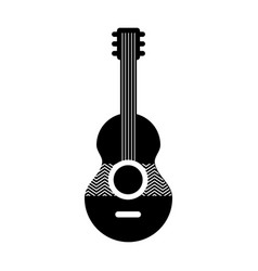 guitar acoustic isolated icon vector image