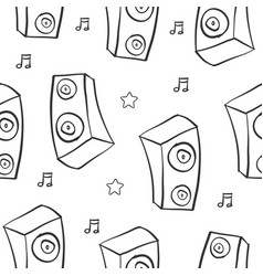 hand draw sound pattern style vector image