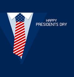 happy presidents day design of usa necktie vector image