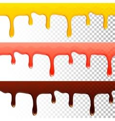 Honey jam chocolate seamless transparent drips vector