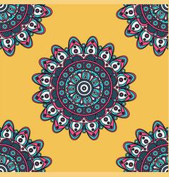 India inspired colorful mandala design pattern vector