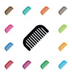 Isolated barber tool icon hairbrush vector