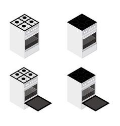 isometric kitchen stove vector image