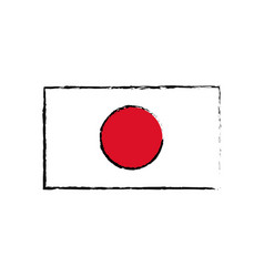 japan flag emblem country symbol vector image