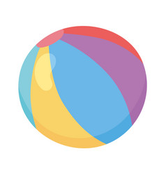 kids toys colored beach ball cartoon isolated icon vector image