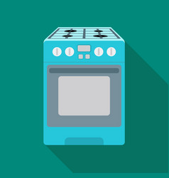 kitchen stove icon in flat style isolated on white vector image