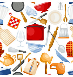 kitchenware cookware for cooking and vector image