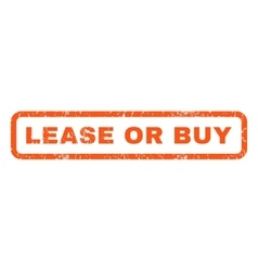 Lease Or Buy Rubber Stamp vector image