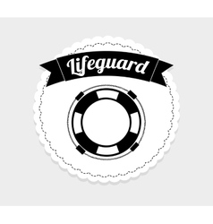 Lifeguard icon vector