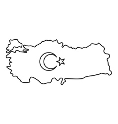 Map of Turkey icon outline style vector