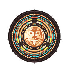 Maya civilization emblem vector