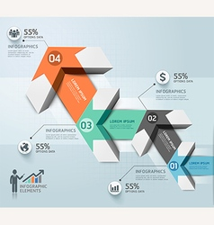 Modern arrow infographics template vector image vector image
