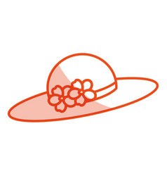 Nice summer hat icon vector