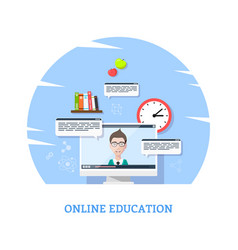 online webinar concept banner vector image