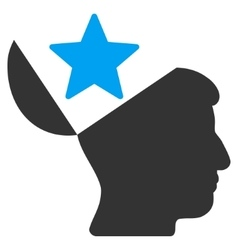 Open Head Star Flat Icon vector image