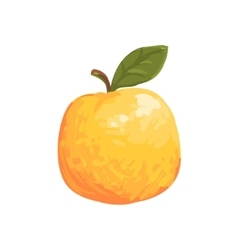 Orange Apple Funky Hand Drawn Fresh Fruit Cartoon vector image