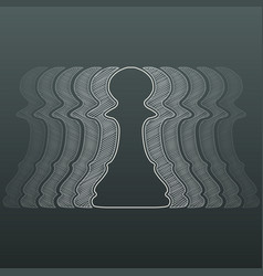 outline chess pawns vector image