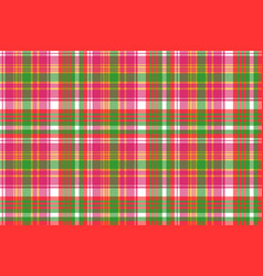 Pink color check plaid seamless pattern vector