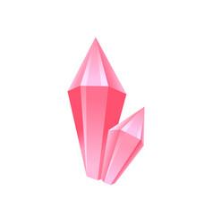 pink crystal precious gemstone or semiprecious vector image