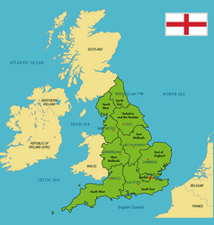 Political map of england with regions vector