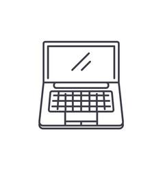 portable computer line icon concept portable vector image