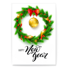 poster happy new year greetings card vector image