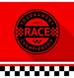 Racing stamp-07 vector image vector image