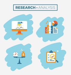 research and analysis icon vector image