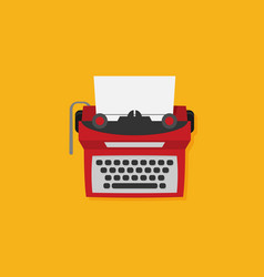 Retro typewriter in flat style vector