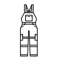 Safety overalls icon outline style vector