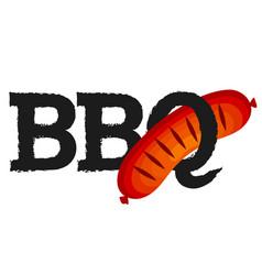 sausage barbecue design vector image