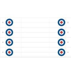 Set of curling sheets vector