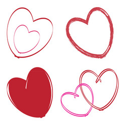 set of images with hearts vector image