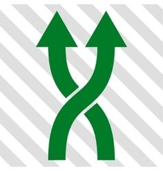 Shuffle Arrows Up Icon vector