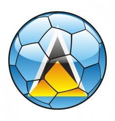 St Lucia flag on soccer ball vector image