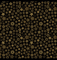stars background golden seamless pattern starry vector image