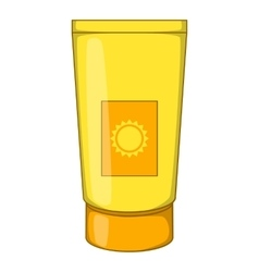 Sun lotion icon cartoon style vector image