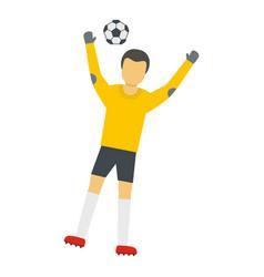 Team goalkeeper icon flat style vector