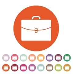 The briefcase icon Portfolio symbol Flat vector image