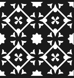 tile black and white decorative floor tile pattern vector image