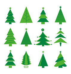 tree merry christmas icon isolated vector image