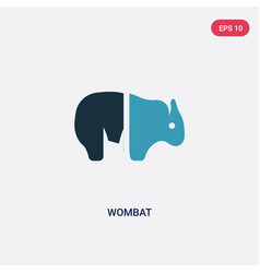 two color wombat icon from animals concept vector image