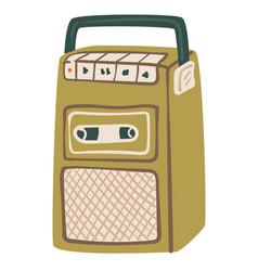 vintage magnetophone or cassette recorder system vector image