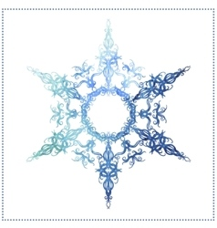 Watercolor snowflake on a white background vector