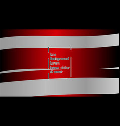 wavy abstract background red color and grey vector image
