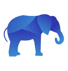 Wild elephant animal jungle logo silhouette vector